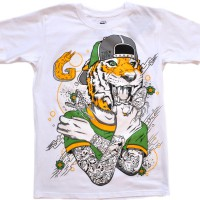 "Футболка ""Tiger Butterfly"" (white)"