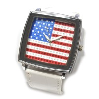 """Часы наручные """"Флаг США -2"""" (white)"""