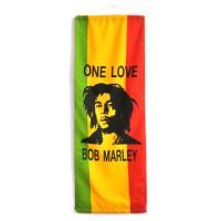 """Флаг вертикальный """"One Love"""" (Bob Marley)"""