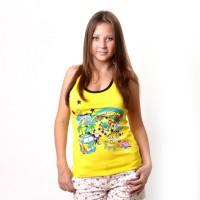 "Майка-борцовка женская ""Love Summer"" (yellow)"
