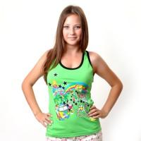 "Майка-борцовка женская ""Love Summer"" (green)"