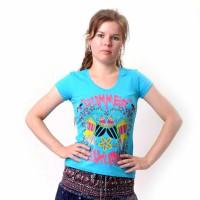 "Футболка женская ""Summer Luxury"" (blue)"