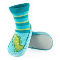 Тапочки для младенцев на коже (5)