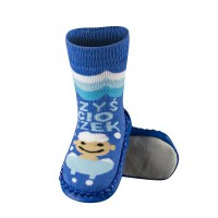 Детские носки-тапочки на коже (1)