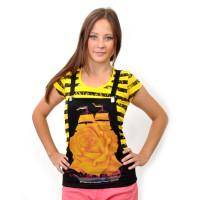"Комплект: футболка и жилет-подтяжки ""Парусник"" (yellow)"
