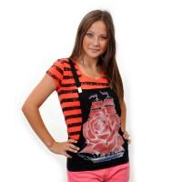 "Комплект: футболка и жилет-подтяжки ""Парусник"" (orange)"