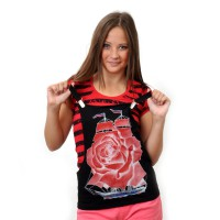 "Комплект: футболка и жилет-подтяжки ""Парусник"" (red)"