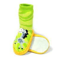 Тапочки для младенцев на коже (1)