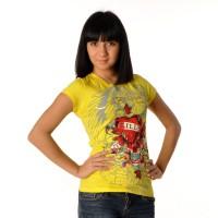 "Футболка женская ""Kills Love"" (yellow)"