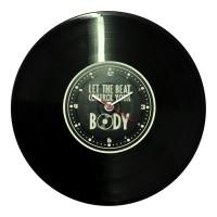 """Часы-пластинка настенные """"Let the beat"""""""