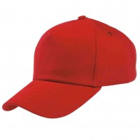 Бейсболка красная (тонкая)