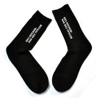 """Мужские носки с надписью """"Без носков - как без трусов"""""""
