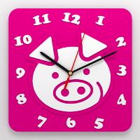 """Часы 3D настенные """"Свинка"""""""