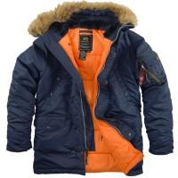 """Куртка-аляска """"Alpha Industries"""", классическая, зауженная (blue/orange)"""