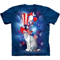 "Футболка ""Patriotic Cat Hatter"" (США)"