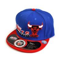 "Бейсболка рэперская ""Chicago Bulls"" -7 (blue & red)"