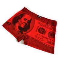 """Трусы мужские """"100 долларов"""" (red)"""