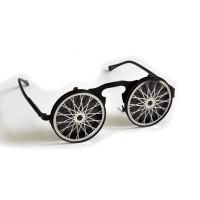 """Очки круглые, зеркальные, с крышками """"Колесо велосипеда"""""""
