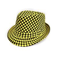 "Шляпа женская ""Клетка"" (yellow)"