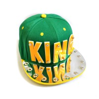 "Бейсболка 3D ""KING"" (green & yellow)"