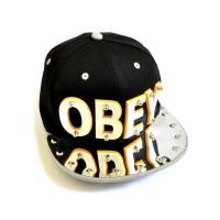 "Бейсболка 3D ""OBEY"" (black & grey)"