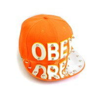 "Бейсболка 3D ""OBEY"" (orange)"