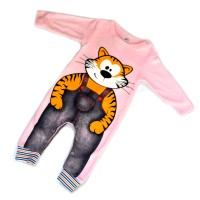 """Детское боди """"Tiger"""" с рукавами (pink)"""