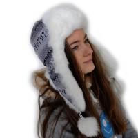 Шапка-ушанка женская -05