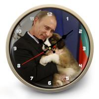 """Часы настенные """"Путин и собака"""""""
