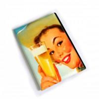 """Обложка для автодокументов """"Женщина с пивом"""""""