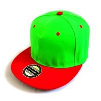Кепка с прямым козырьком (зеленый с красным)