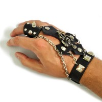 Слейв-браслет кожаный -01