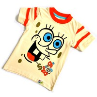 "Футболка детская ""Sponge Bob"" (beige)"