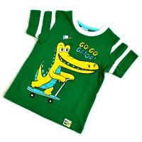 """Футболка детская """"Крокодил"""" (green) -01"""