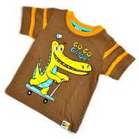 """Футболка детская """"Крокодил"""" (brown) -02"""