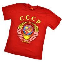 "Футболка красная ""Герб СССР"" (двусторонняя)"
