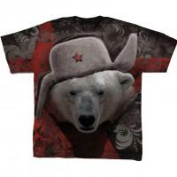 """Футболка тотальная, двусторонняя """"Русский медведь"""""""