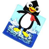 """Детская махровая накидка с капюшоном """"Пингвин"""""""