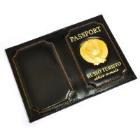 """Обложка для паспорта """"Russo Turisto"""" (black)"""