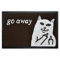 """Коврик придверный """"Go away"""" (резиновая основа)"""