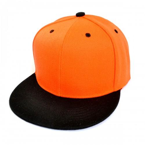 Кепка с прямым козырьком, оранжевая -02