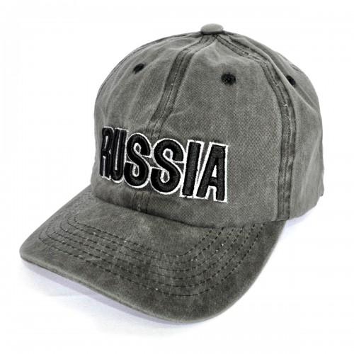"""Бейсболка джинсовая """"Russia"""" -08"""