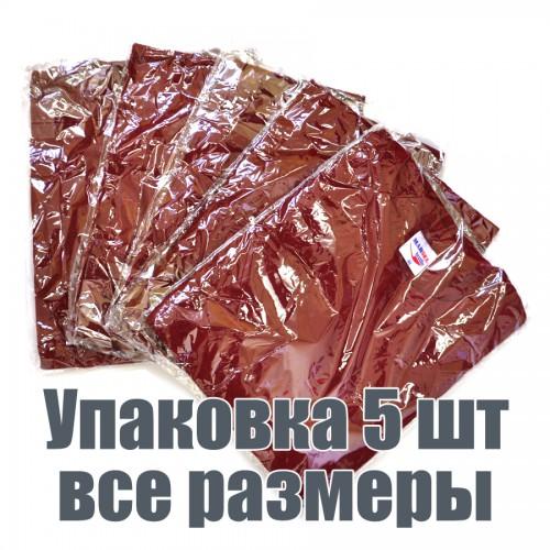 Упаковка футболок, 5 шт, 5 размеров (Бордовый)