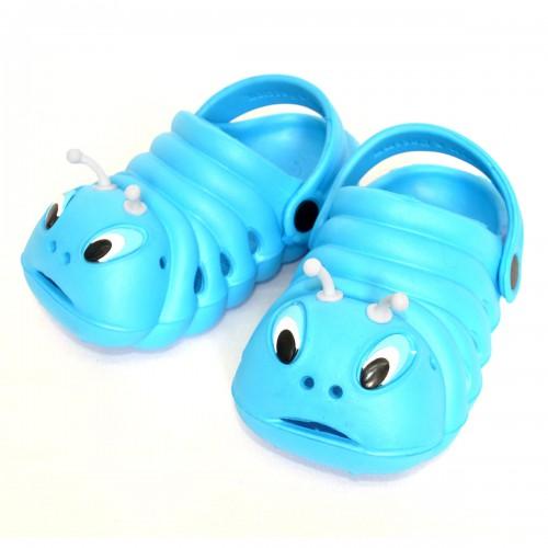 "Детские сабо ""Гусеница"" (blue)"
