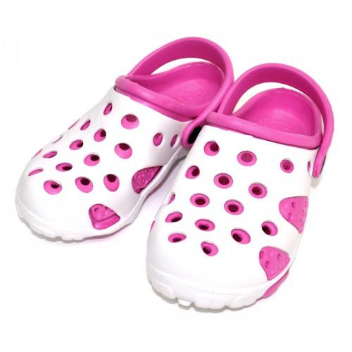 "Шлепанцы-галоши детские ""White & Pink"""