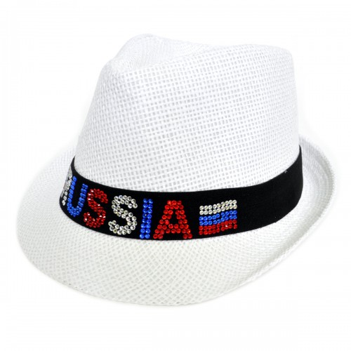 "Шляпа женская ""Russia"" (стразы)"