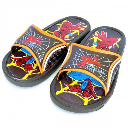 """Сланцы подростковые для мальчика """"Spider-Man"""" -2 (brown)"""