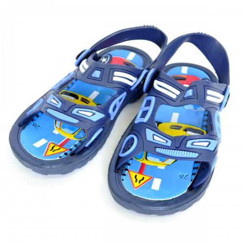 """Сандали детские, пляжные, для мальчика """"Дорожние знаки"""" (blue)"""