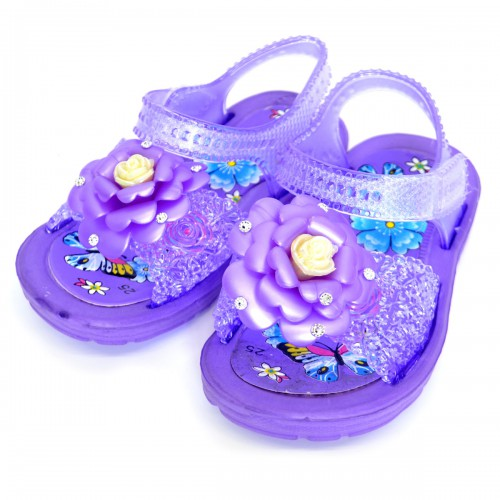 """Сандали детские, пляжные, для девочки """"Розочка"""" (purple)"""