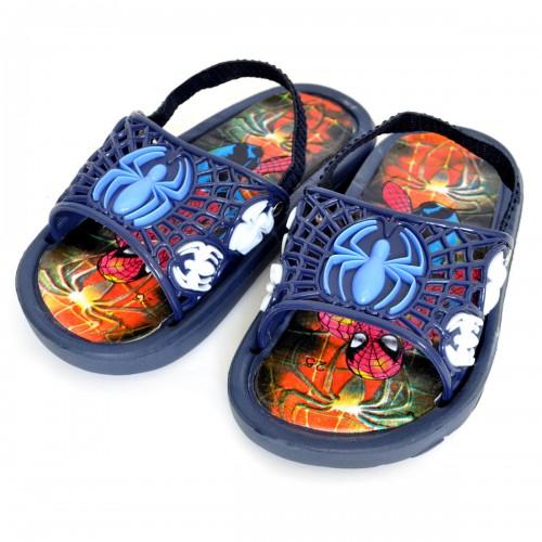 """Сланцы детские для мальчика """"Spider-Man"""" с резинкой (blue)"""